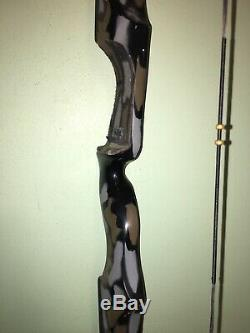 Vtg Ben Pearson Takedown 60# 60 Factory Camo Archery Rh Recurve Bow Td